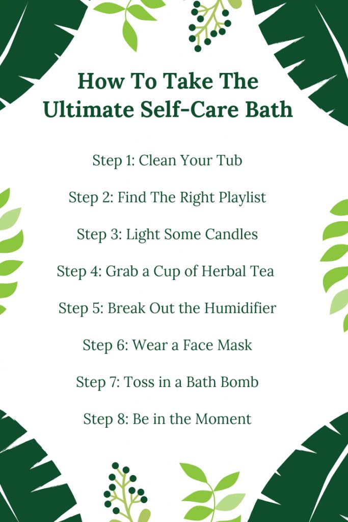 self-care bath